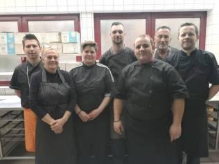 L'équipe cuisine d'Events Coordination t=fidèle au poste !