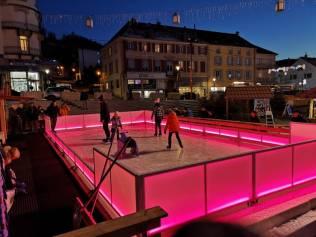 patinoire village skieur Gérardmer animation (1)