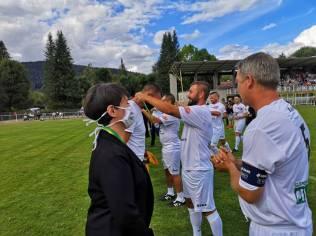 Remise de médailles de l'équipe Chanter le Foot aux représentants du monde hospitalier