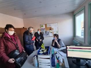 Dans le bureau du 115 avec Claire Laroux et et Laure Garry qui recevaient les appels ce jeudi 11 février.