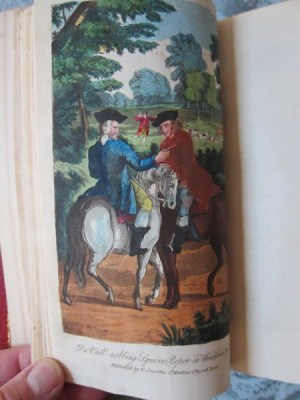 Lives and Adventures of the Most Celebrated Highwaymen, Street Robbers, & C. Color plate