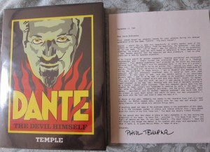 Dante The Devil Himself Front Cover and Letter From Author