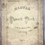 Manual of Plymouth Church, Brooklyn, New York 1867