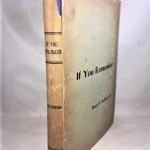 If You Remember (Monographs on Columbia County, New York )
