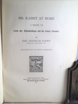 Mr. Rabbit at Home; a Sequel to Little Mr. Thimblefinger and His Queer Country