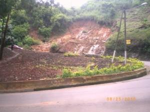 Landslide scar at C- Bend
