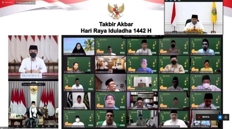 Gubernur Arinal Ikuti Acara Malam Takbir Akbar Sambut Idul Adha secara Virtual Bersama Presiden dan Wapres