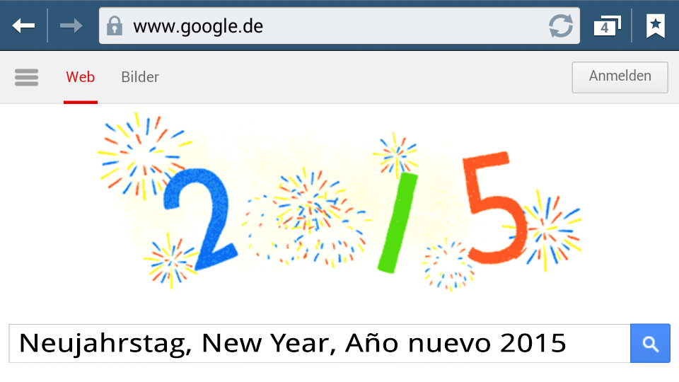 Neujahrstag 2015 New Year (Doodle)