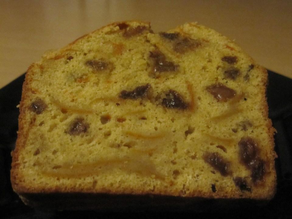 pompoencake met rozijnen