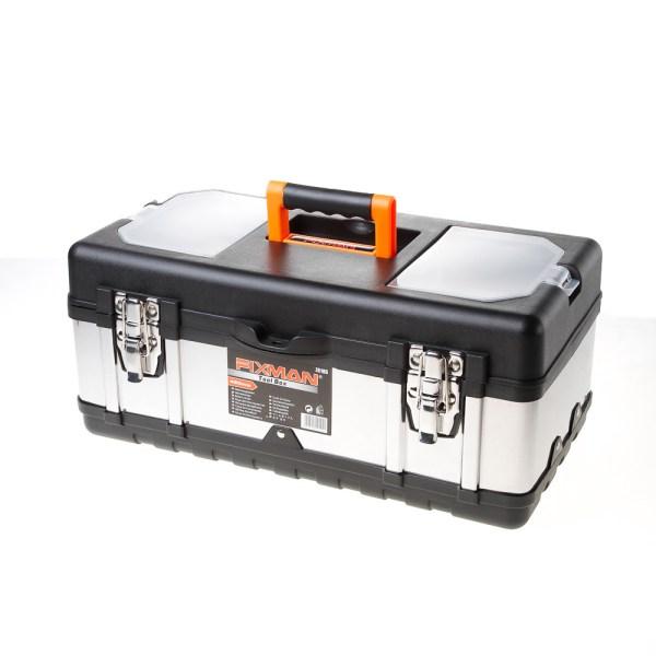 Fixman gereedschapskoffer leeg, met inlegbakje, 450x230x200mm (lxdxh)