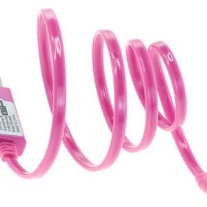 MicroUSB kabel met roze lichtgevend looplicht