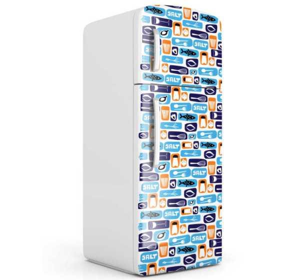Eten thema koelkast sticker