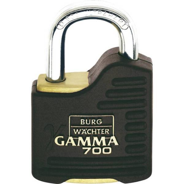 Burg Wächter Gamma 700 55 SB Hangslot Messing, Zwart Hangslot met profielcilinder