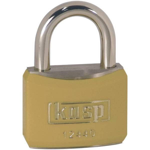 Kasp K12440YELD Hangslot 40 mm Verschillend sluitend Goud-geel Sleutelslot