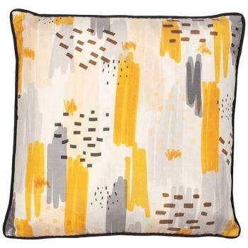 Malini Finsbury Mustard Cushion
