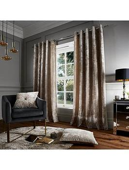 Catherine Lansfield Crushed Velvet Eyelet Curtains