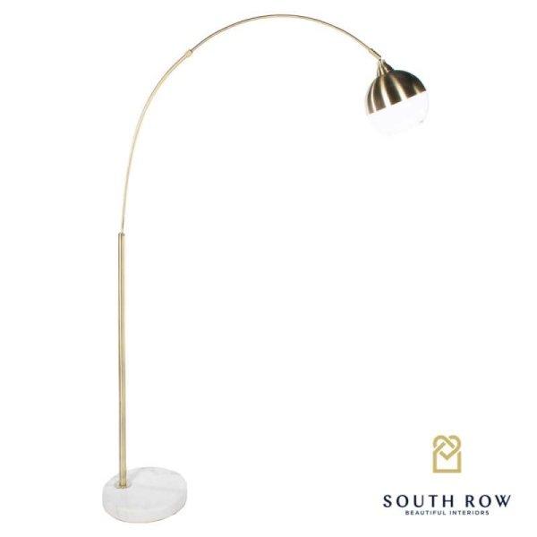Southrow Globe overhanging floor lamp gold 170cm