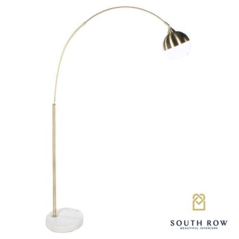 Southrow Globe overhanging floor lamp gold 170cm