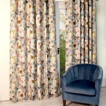 Scatter Box Primavera Pair Teal Curtains 100x90''