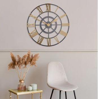 "Thomas Kent 24"" Evening Star Brass Clock"