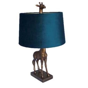 gold-giraffe-lamp-with-teal-shade
