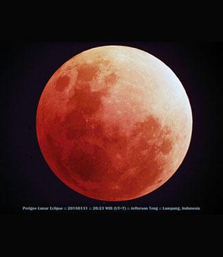 Kenampakan Bulan Saat Gerhana Total