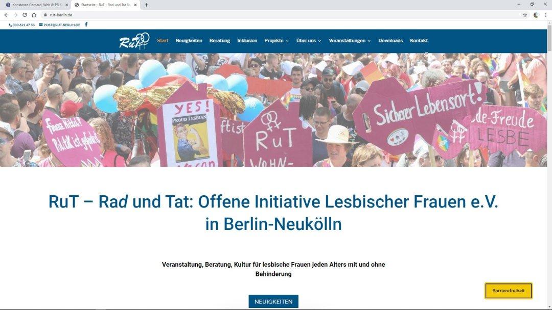 RuT Berlin - Rad und Tat e.V. - Offene Initiative Lesbischer Frauen - Veranstaltung, Beratung, Kultur
