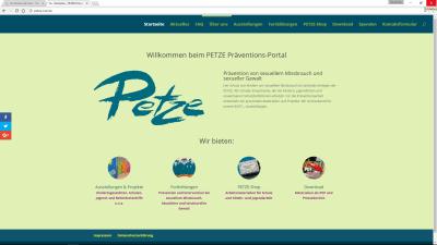 PETZE Web-Portal