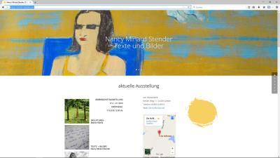 Nancy Minard Stender | Künstlerin: Bilder und Texte. Webdesign, Erstellung und Pflege