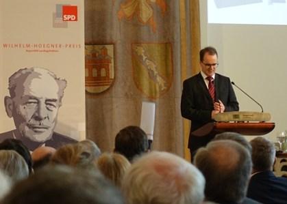 Wilhelm-Hoegner-Preisverleihung - SPD Landtagsfraktion - München 2016-02-28 Markus Rinderspacher-- DSC00337