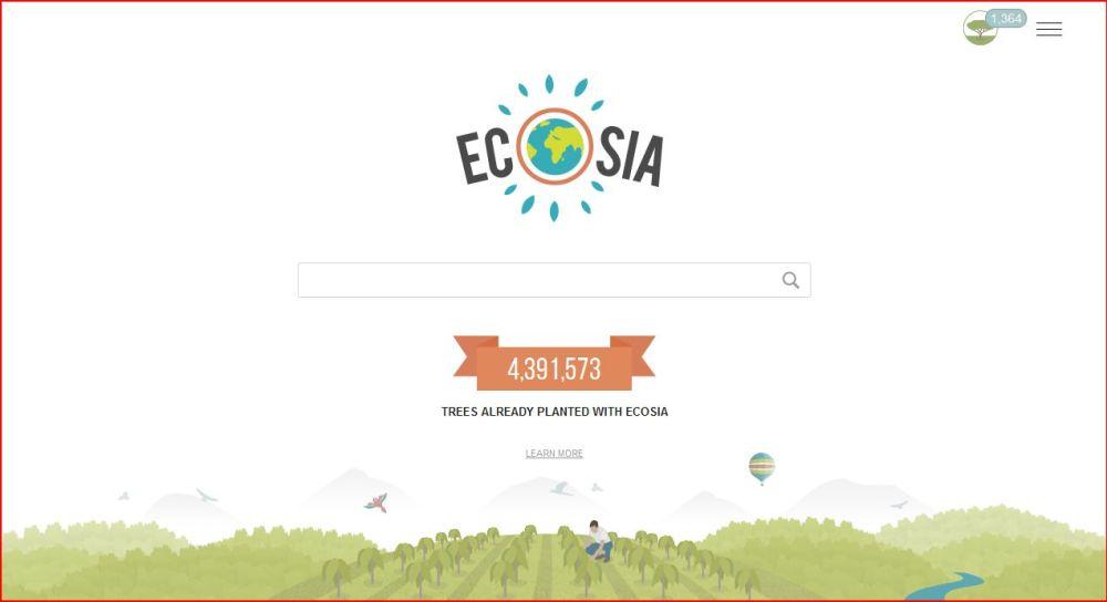 Een groene zoekmachine: Ecosia