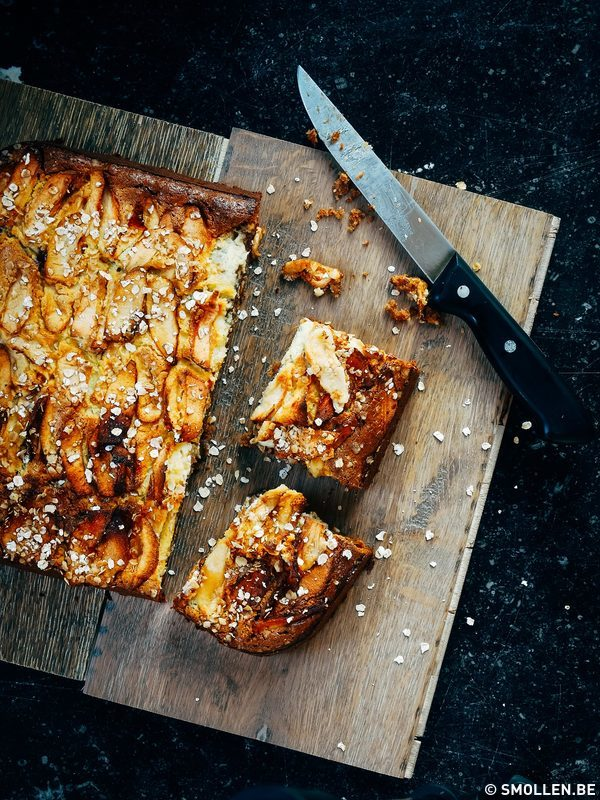 appeltaart met cheesecake smollen