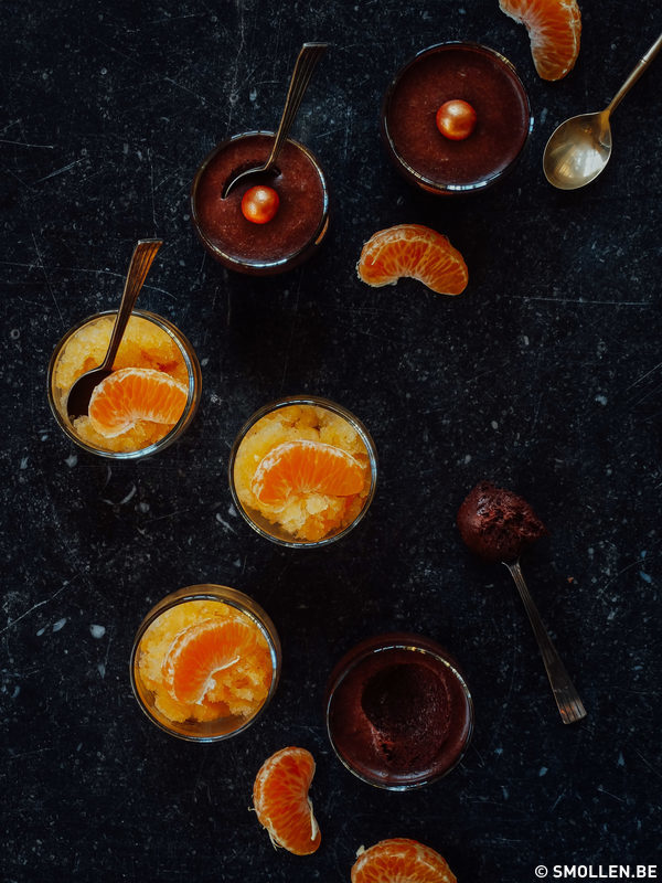 Recept van de maand #42: Veganistische chocomousse met mandarijnsorbet