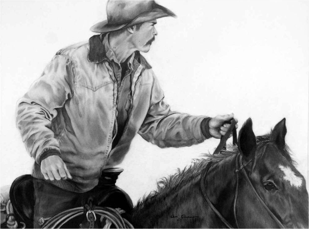 Riding Flank on a Cattle Drive