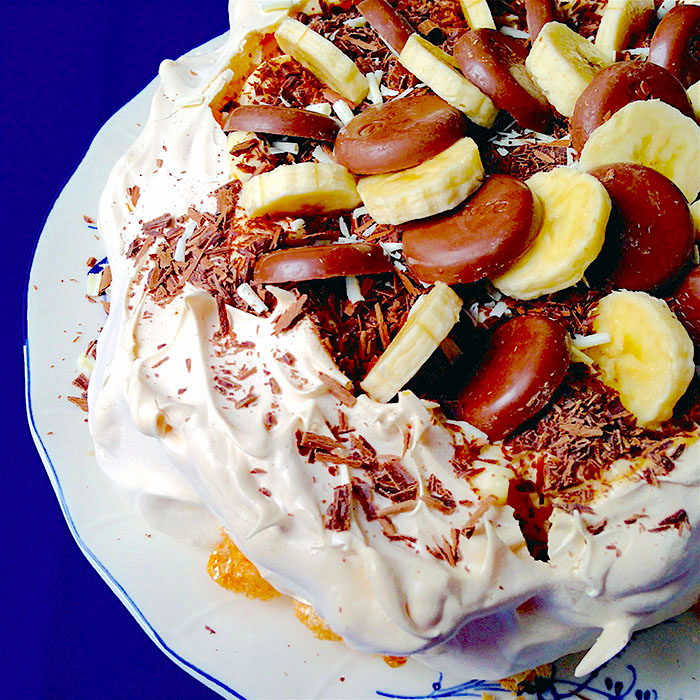 Chocolate pavlova / Шоколадова Торта Павлова рецепта