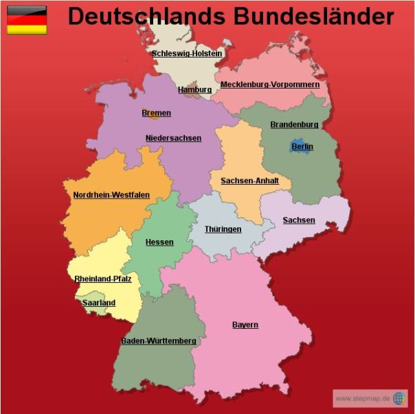 Bundesländer mapka