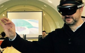 Trying the Hololense