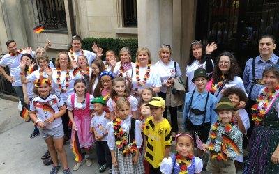 Children and Parents Enjoy Steuben Day Parade
