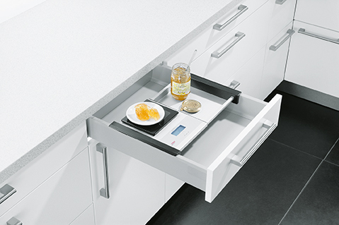 Schuller German Kitchens Cardiff - Built in Scales for Drawer