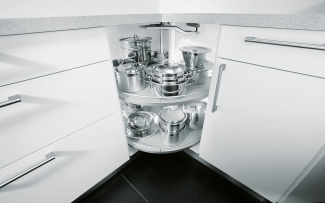 Schuller German Kitchens - Storage Solutions - Pull Out Storage - pull out carousel unit