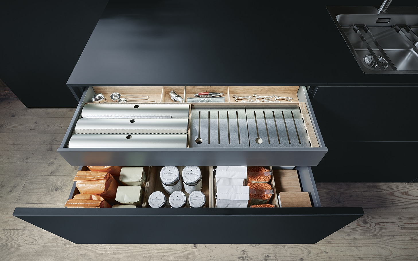 next 125 cardiff drawer solutions schuller german kitchens