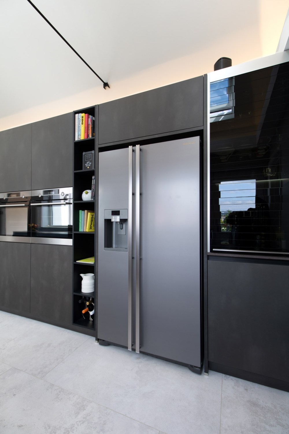 Schuller Targa Steel Kitchen Project in Old St Mellons - 01