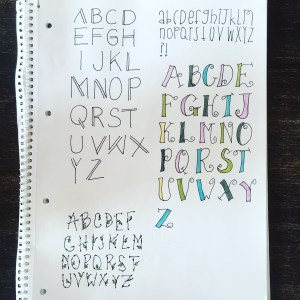 Handlettering Fonts Doodles Bullet Journal