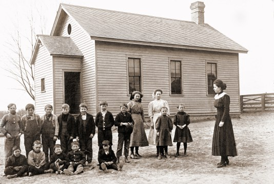 Sherman School, two miles from the farm. ~1908-1910
