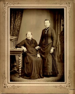 PHOTO 1890s The photo shows Marie seated and daughter Alvina standing. Alvina married Fred Fromm, son of Johann and Johanna Fromm. Johanna appears to be in her late 60s.