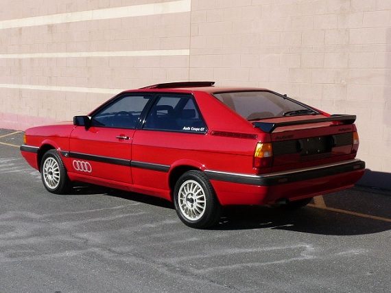 1985 audi coupe gt with claimed 11 500 miles german cars for sale blog. Black Bedroom Furniture Sets. Home Design Ideas