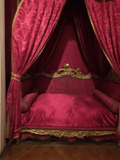 the bed where Friedrich III (Kaiser Friedrich) died in Neues Palais