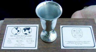 Webster Presbyterian Church replica of Aldrin's communion cup.