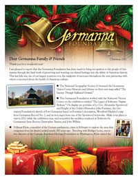 Germanna Foundation Christmas Letter, 2011
