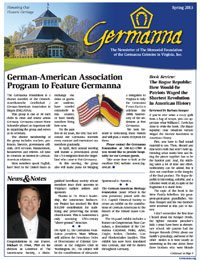 Germanna Foundation Newsletter, Spring 2013